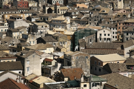 Panorama of the mediteranean old town Stock Photo