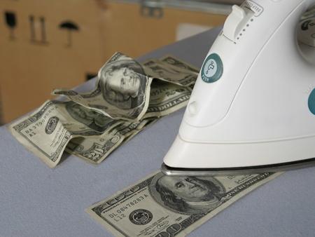 Money laundering in warehouse photo