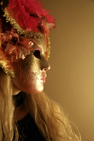 Venetian carnival mask - profile photo