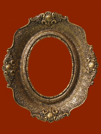 emphty: Empty picture frame  gold antique