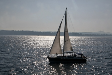 Sailboat on the sea photo