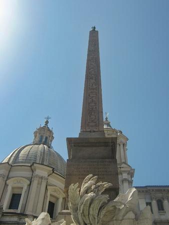 Obelisk in Piazza Navona - Rome  disambiguation