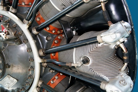 Propeller and radial engine of an airplane