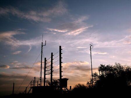 pluviometro: Estación meteorológica, más cerca de fin de tiempo sonda