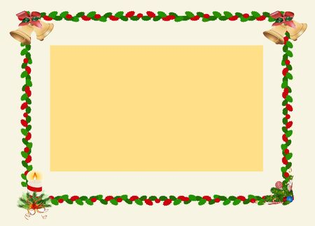 Winter jingle bell frame card Stock Photo - 17235089