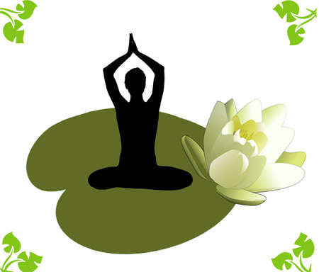 Yoga lotos exercises Stock Photo - 17235555