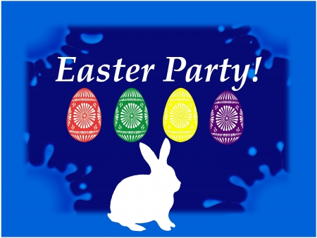 Easter party table - blue Stock Photo - 17238088