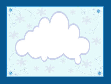 Winter snowflakes around note cloud Stock Photo - 17238081