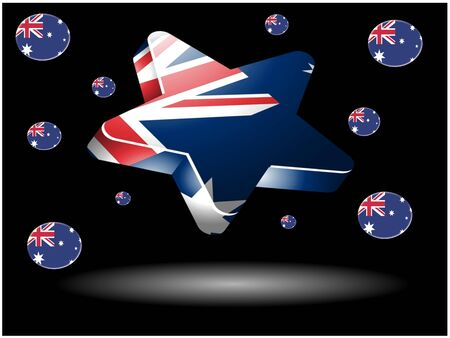 Australian flag star photo