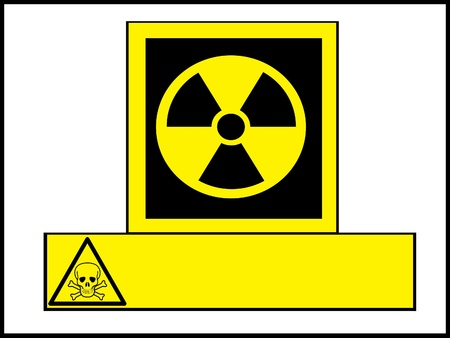 Radioactivity and poison,warning notice photo