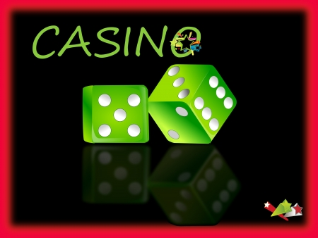 Casino dices,game invitation photo