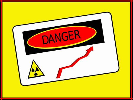 Danger zone radiation rise Stock Photo - 17244055