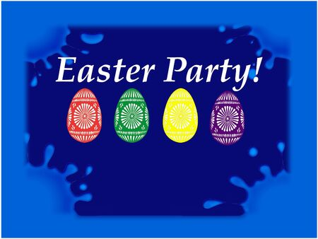 Easter party blue table Stock Photo - 17245325