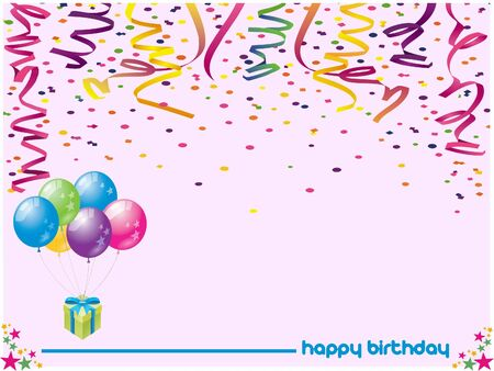 Happy birthday greetings card colored Stock Photo - 17244086
