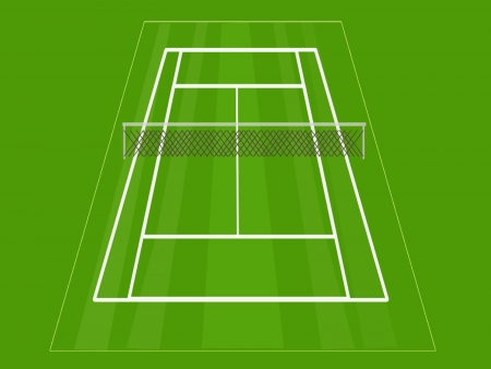 ballsport: Tennis court,a simple grass tennis court