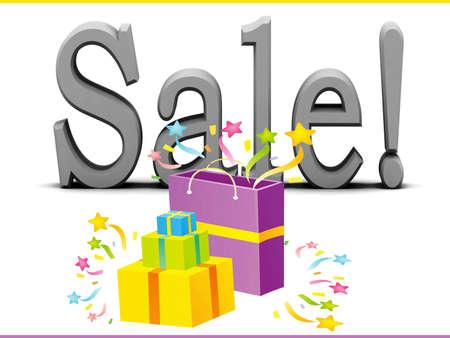 Sale card Stock Photo