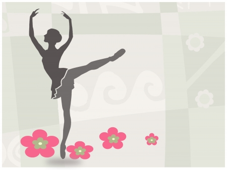 ballet dance: Ballet dance invitation card Stock Photo