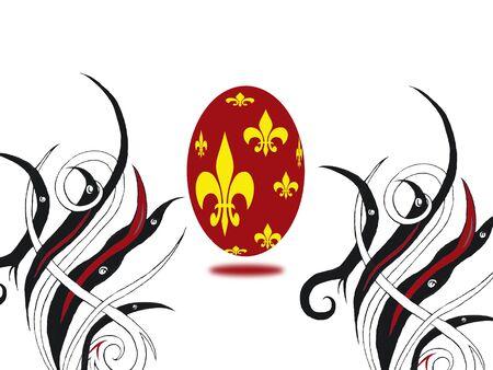Red Easter egg,3D Stock Photo