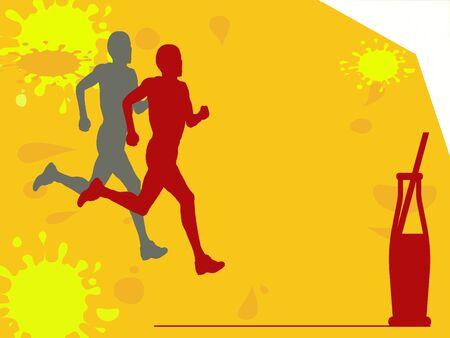 Marathon refreshment ilustration Reklamní fotografie - 17339036
