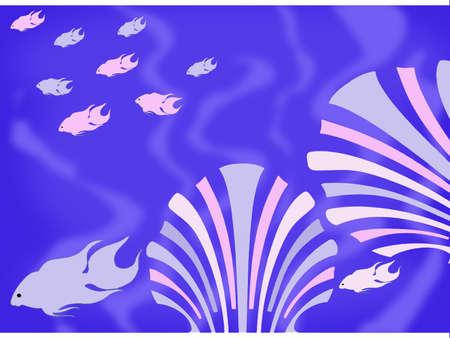 deepsea: Fish and shels deepsea Stock Photo