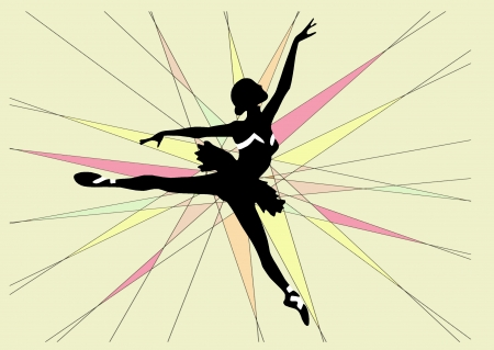 Abstract shape and ballet dancer photo