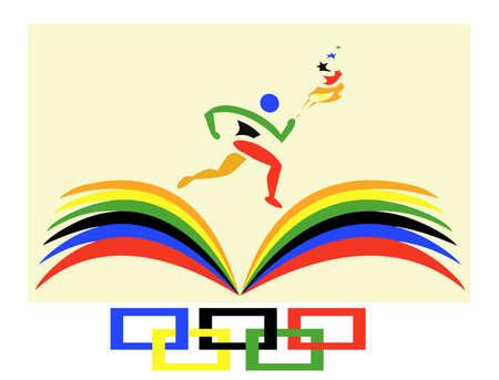 summer game: Runner holding torch