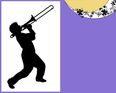 musicos: Trombonista contorno
