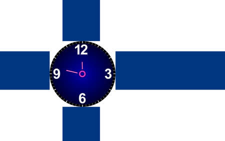 time zone: Clock Finland time zone