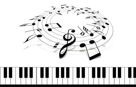 compose: Compose a music Stock Photo