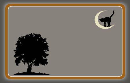 notecard: Hallowen gray notecard framed Stock Photo