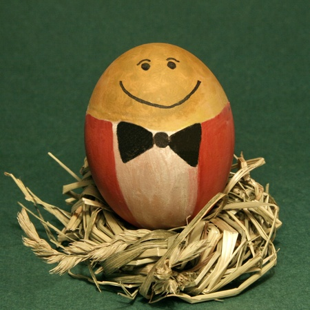 mr: Smile of Mr Egg Foto de archivo