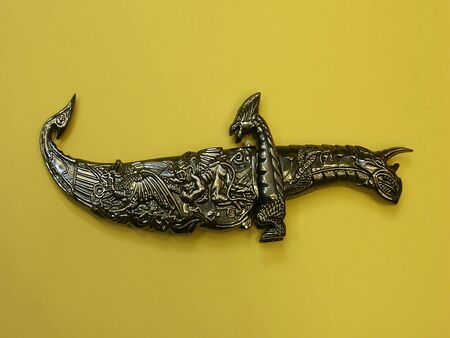 antiquary: Tibetan knife,isolated view