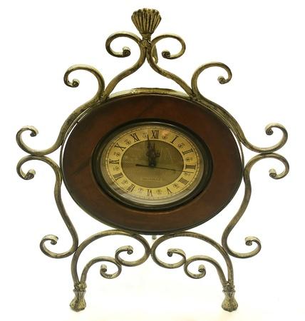 Metal-wood clock