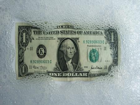 Washing-toned dollar photo
