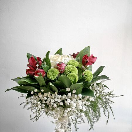 Bouquet of colorful flowers for espousal,isolated view