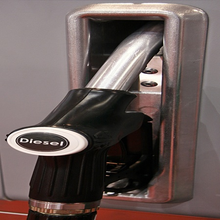 One color handles for diesel photo