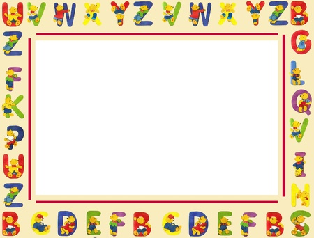 Alphabet frame Stock Photo