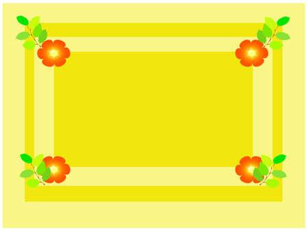 Spring yellow frame Stock Photo