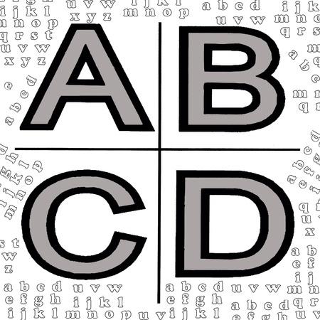 ABCD school alphabet