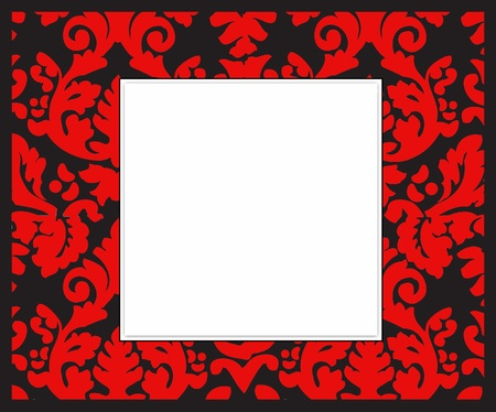 Black-white-red picture frame
