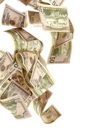 American dollars on a white background Фото со стока