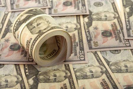 A plenty of available American dollars. Фото со стока