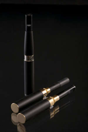 Set for smoking. The electronic cigarette has the big popularity at interested persons to not smoke.