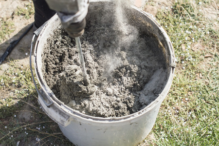 cement solution: The process of mixing components for the preparation of cement solution