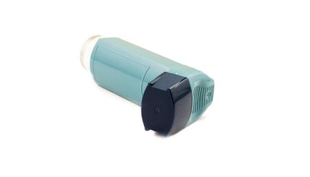 inhaler: Inhaler to treat asthma on a white background