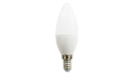 oval shape: LED lamp oval shape on a white background