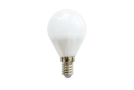 led lamp: LED lamp round shape on white background