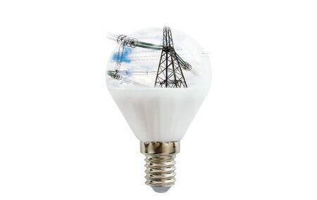 LED Lampe Mit Einem Bild Von Einem Grünen Wald Im Inneren
