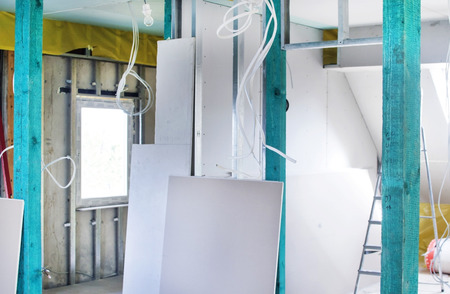 Installation of drywall constructions and their insulation from moisture and cold