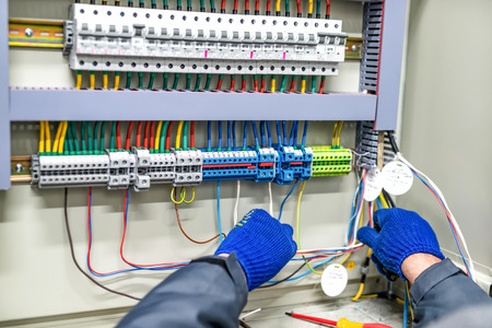 The process of connecting cables to the main distribution unit